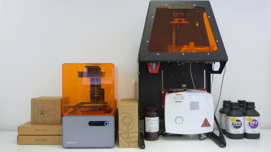 Ultra-high resolution SLA 3D printing machines