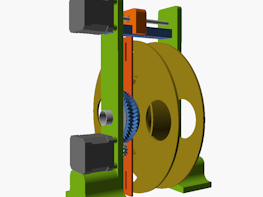 CAD design for 3D printer filament winding machine