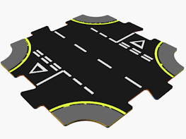 CAD design file for crossroads piece