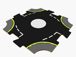 CAD file for roundabout for interconnecting road system
