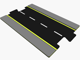CAD design file for straight road for interconnecting road system