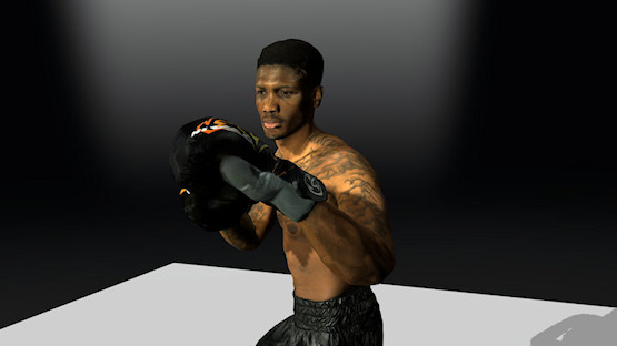 Animated 3D Scan. Kelvin Stonebridge Boxers.
